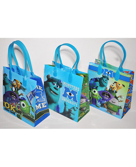 Monsters University Plastic Gift Bags with Handles