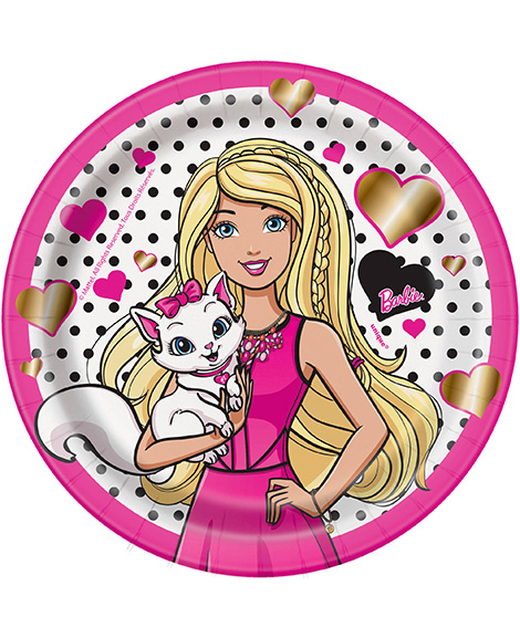 Barbie and Kitten Dessert Plates By Unique