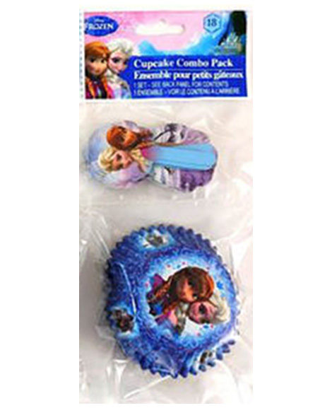Frozen Paper Cupcakes Baking Cups and Decorative Picks