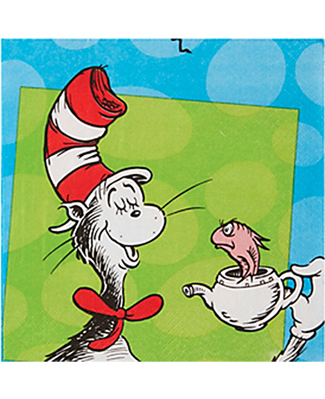 Dr Seuss Amscan Lunch Napkins