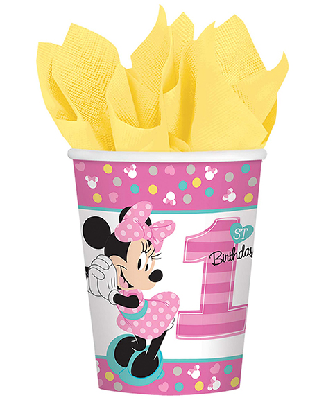 Minnie Fun To Be One 1st Birthday 9 oz Paper Cups
