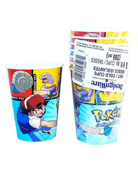 Pokemon Licensed 9 oz Paper Cups