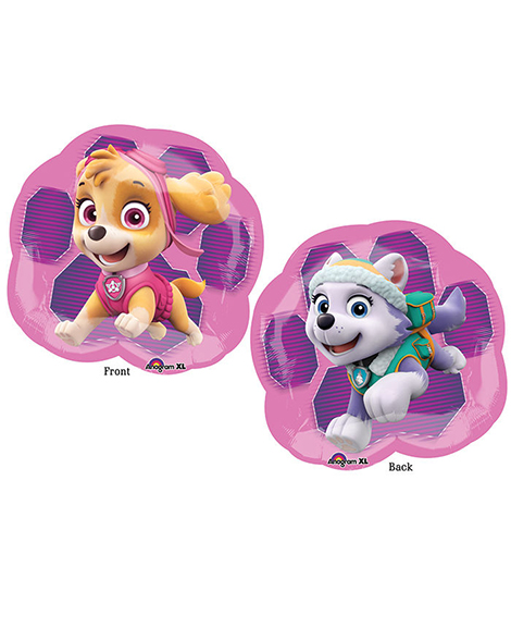 Paw Patrol Girls Pink Super Sized Shaped 25 Inch Balloon
