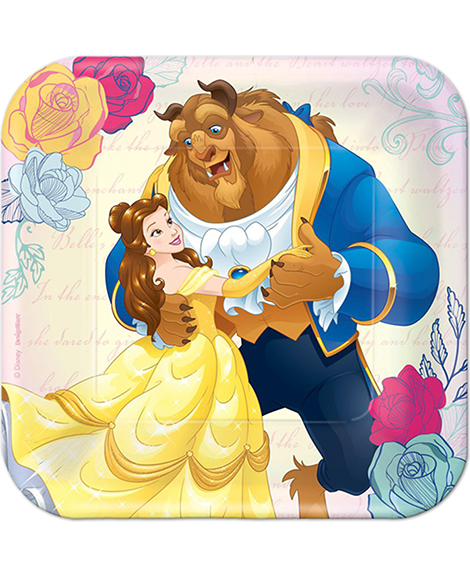 Beauty and The Beast Belle Dessert Plates