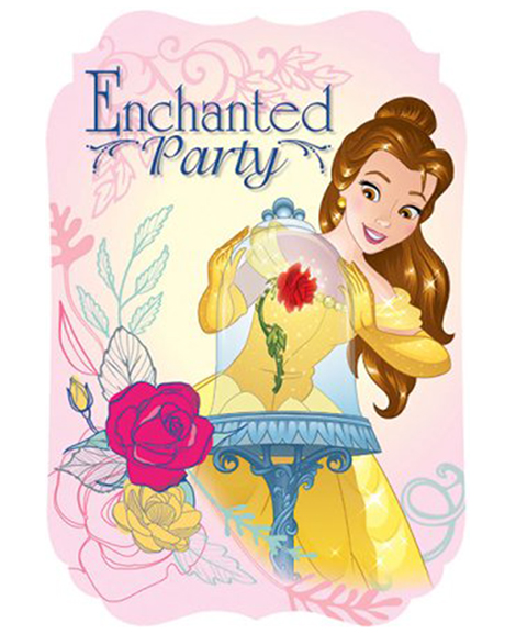 Beauty and The Beast Belle Save The Date Party Invitations