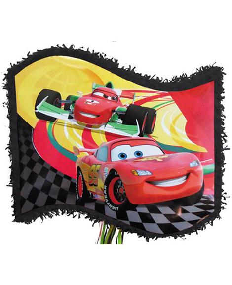 Cars Flag Shape Pop Out Pinata
