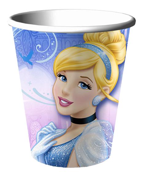Cinderella Sparkle 9 oz Paper Cups