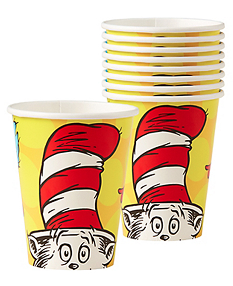 Dr Seuss 9 oz Paper Cups