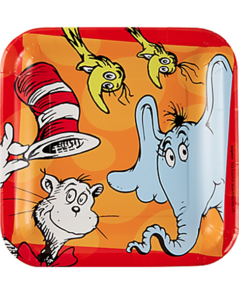 Dr Seuss Amscan Lunch Plates