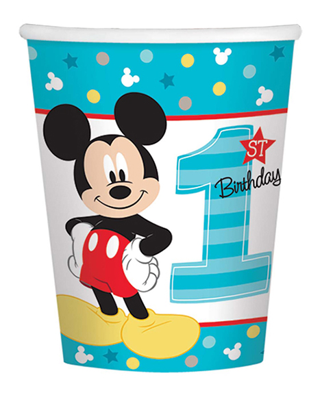 Mickey Fun To Be One 1st Birthday 9 oz Paper Cups