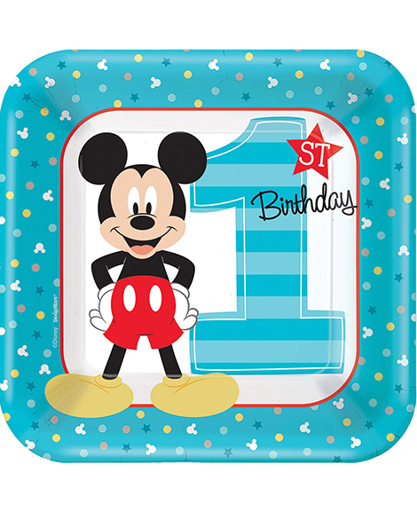Mickey Fun To Be One 1st Birthday Dessert Plates