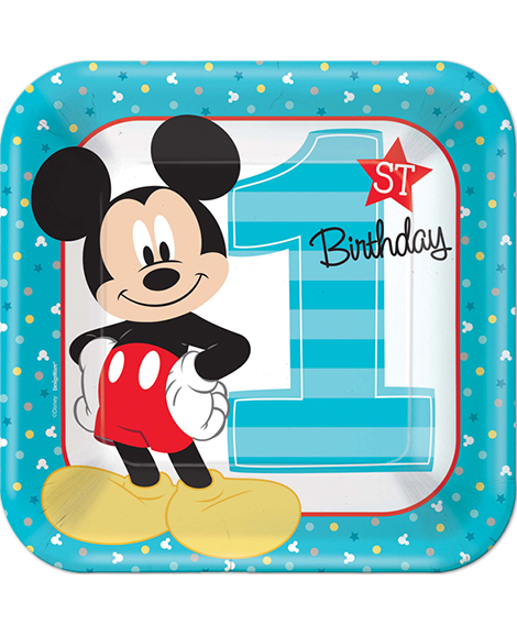 Mickey Fun To Be One 1st Birthday Lunch Plates