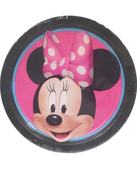 Disney Minnie Mouse Round Lunch Plates