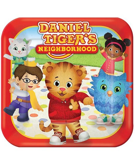 Daniel Tiger's Neighborhood Dessert Plates