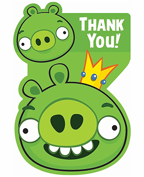 Angry Birds Thank You Cards With Seals