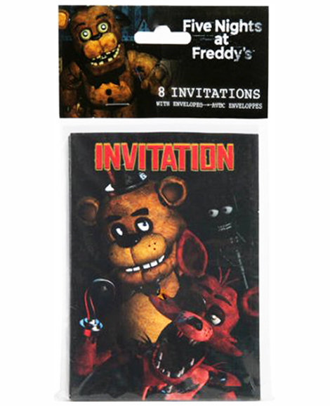 Five Nights At Freddys Party Invitations