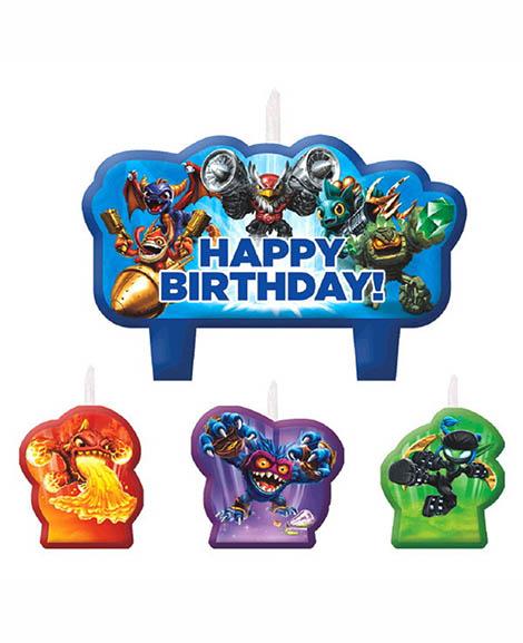 Skylanders Cake Topper Candles
