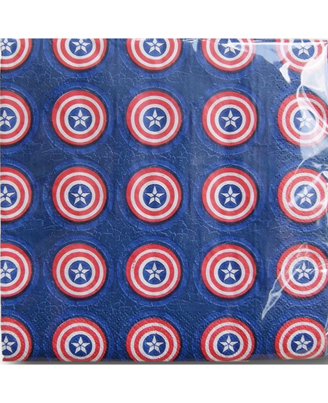 Captain America 3 Shield Style Lunch Napkins