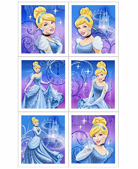 Cinderella Sparkle Party Favor Stickers