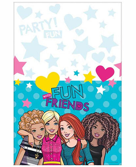 Barbie and Friends Plastic Table Cover