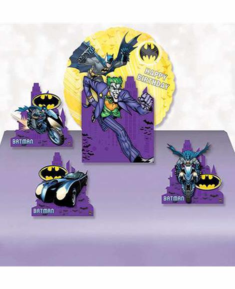 Batman Dark Knight Air Filled Happy Birthday Centerpiece