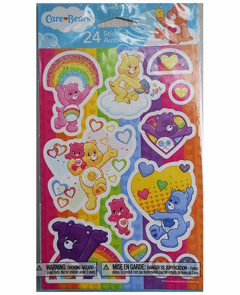 Care Bear Rainbow Glitter Stickers