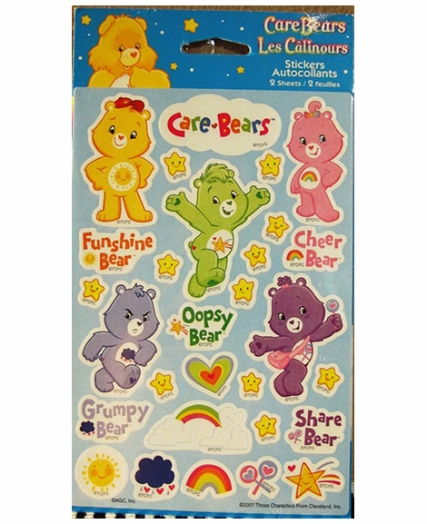 Care Bear Party Favor Stickers