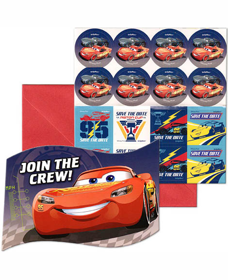 Disney Cars 3 Save the Date Party Invitations