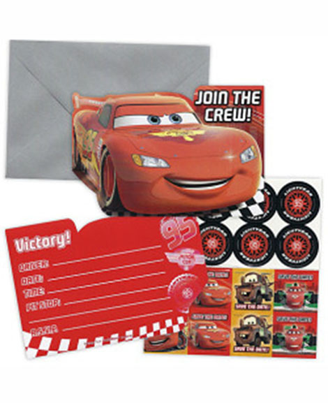 Cars Formula Racer Save The Date Party Invitations