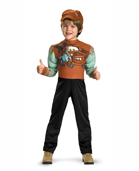 Disney Cars Tow Mater Classic Muscle Halloween Costume Size 3T-4T