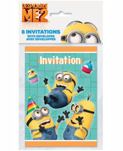 Despicable Me 2 Party Invitations