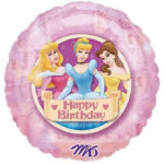 Disney Princess 18 Inch Round Mylar Foil Balloon