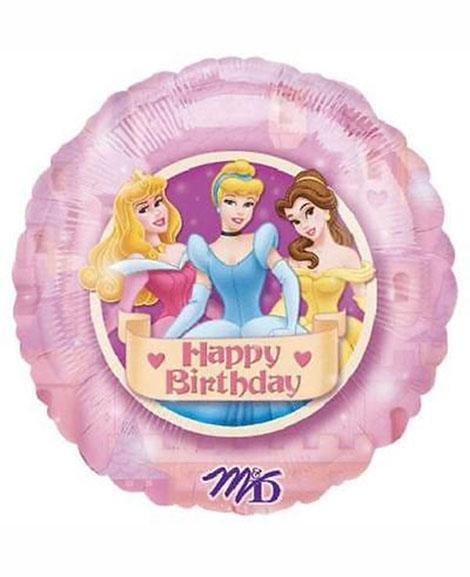 Disney Princess 18 Inch Round Mylar Foil Balloon
