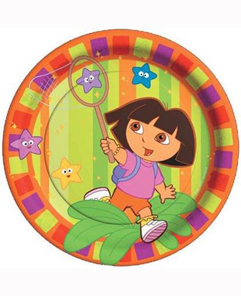 Dora Star Catcher Lunch Plates