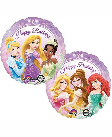Disney Princess 18 Inch Round Foil Happy Birthday Mylar Balloon