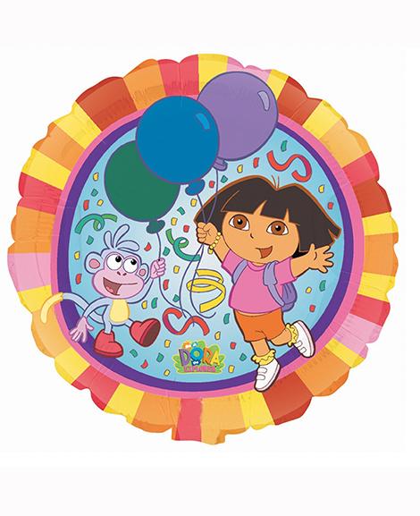 Dora The Explorer 18 Inch Round Mylar Foil Balloon