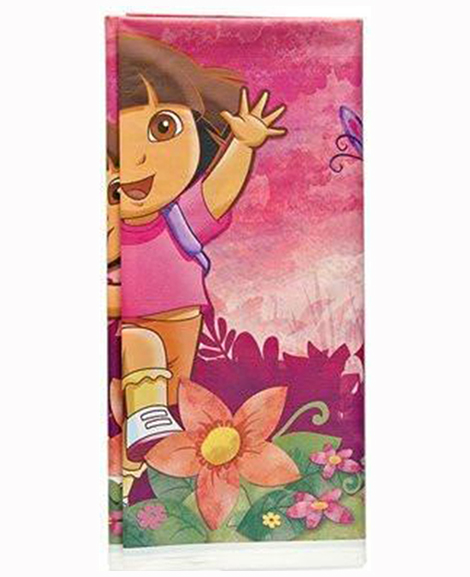 Dora Floral Plastic Table Cover