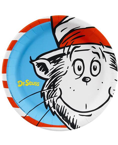Dr Seuss Stripes Lunch Plates