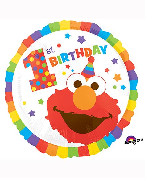 Elmo Turns One 18 Inch Round Mylar Balloon