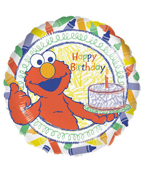 Elmo World of Crayons 18 Inch Foil Mylar Balloon