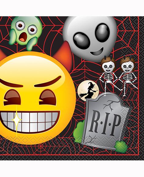 Emoji Halloween Ghost Lunch Napkins