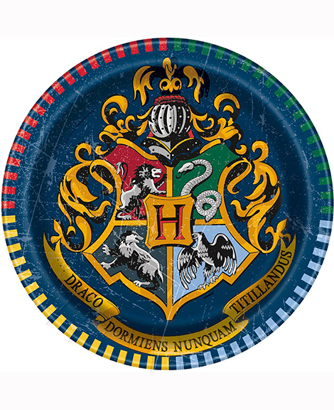 Harry Potter Dessert Plates with Crest