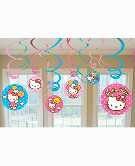Hello Kitty Balloon Dreams Hanging Swirl Decorations