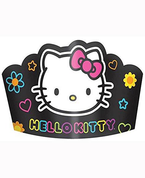 Hello Kitty Tween Neon Party Favor Tiara Hats