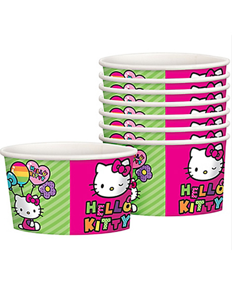 Hello Kitty Rainbow Treat Favor Ice Cream Cups