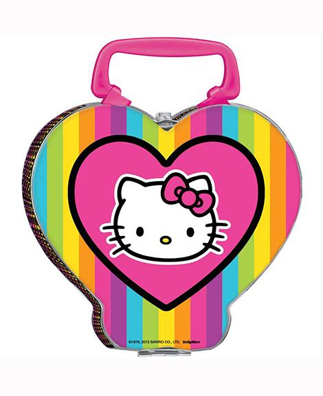 Hello Kitty Tween Neon Metal Tin Lunch Box