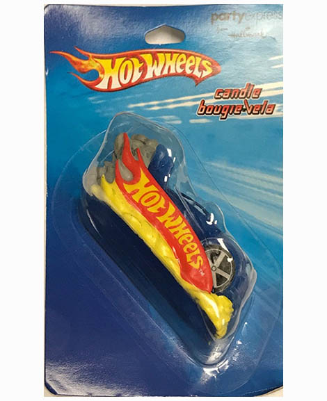 Hot Wheels Race Car Cake Topper Candle
