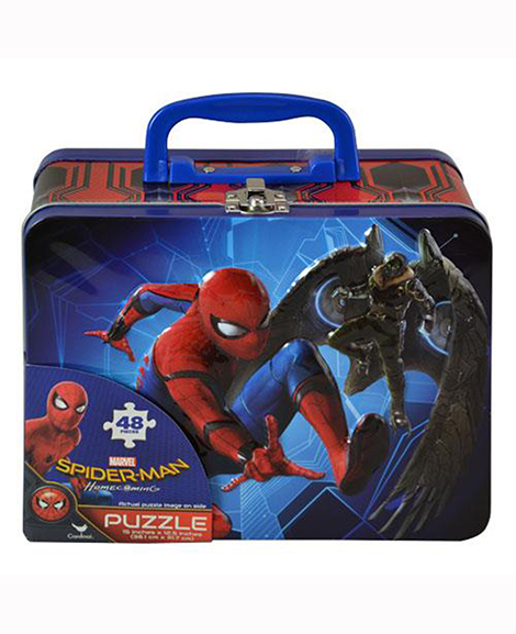 Spiderman Lunch Tin Includes 48 Piece Puzzle