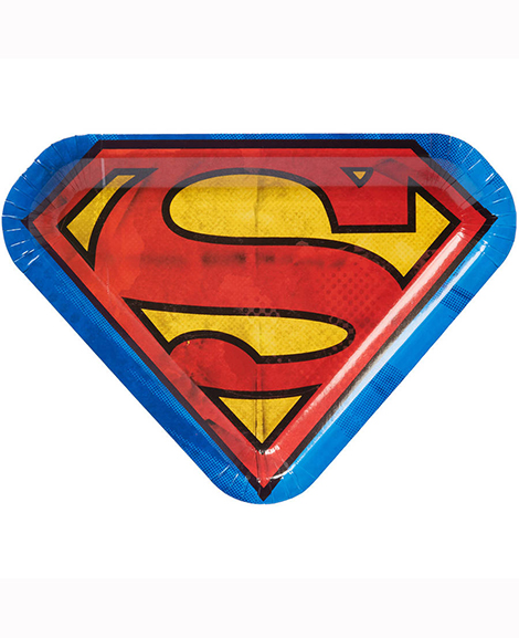 Superman DC Shield Shaped Lunch Plates