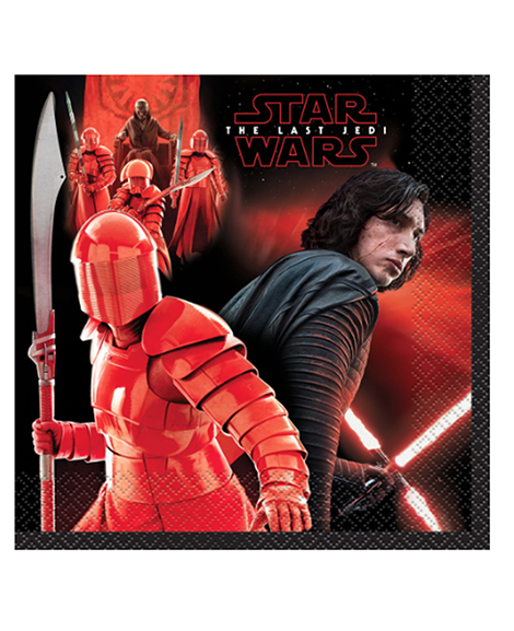 Star Wars The Last Jedi Lunch Napkins 16 Ct